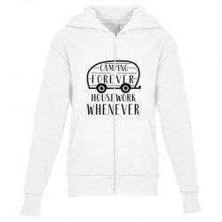 camping forever Youth Zipper Hoodie | Artistshot