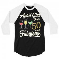april girl over 50 & fabulous 3/4 Sleeve Shirt | Artistshot