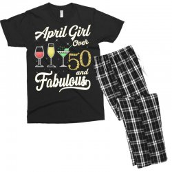 april girl over 50 & fabulous Men's T-shirt Pajama Set | Artistshot