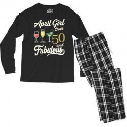 april girl over 50 & fabulous Men's Long Sleeve Pajama Set | Artistshot