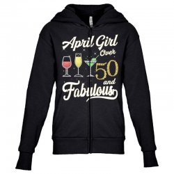 april girl over 50 & fabulous Youth Zipper Hoodie | Artistshot