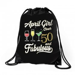 april girl over 50 & fabulous Drawstring Bags | Artistshot