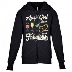 april girl over 52 & fabulous Youth Zipper Hoodie | Artistshot