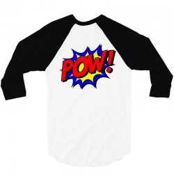 pow comic comic book fight 3/4 Sleeve Shirt | Artistshot