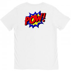pow comic comic book fight V-Neck Tee | Artistshot