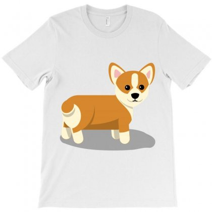 Corgi Dog Puppy T-shirt Designed By Salmanaz