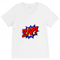 zap comic book fight V-Neck Tee | Artistshot