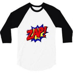 zap comic book fight 3/4 Sleeve Shirt | Artistshot