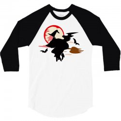 bat broom broomstick 3/4 Sleeve Shirt | Artistshot