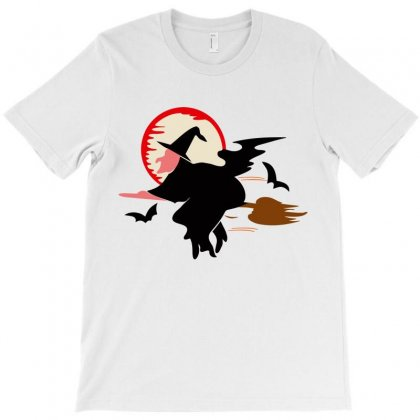 Bat Broom Broomstick T-shirt Designed By Salmanaz