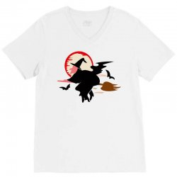 bat broom broomstick V-Neck Tee | Artistshot