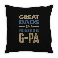 Promoted To G-Pa Throw Pillow   Artistshot