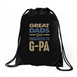 Promoted To G-Pa Drawstring Bags | Artistshot