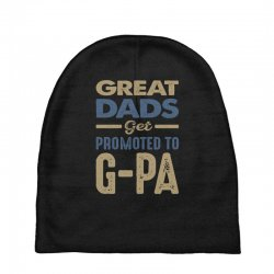 Promoted To G-Pa Baby Beanies   Artistshot
