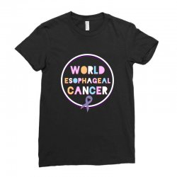 world esophageal cancer Ladies Fitted T-Shirt | Artistshot