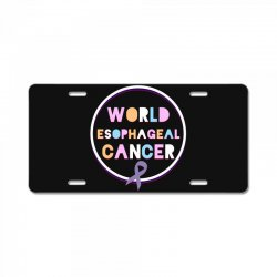 world esophageal cancer License Plate | Artistshot