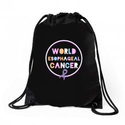 world esophageal cancer Drawstring Bags | Artistshot