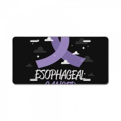 esophageal cancer ribbon License Plate | Artistshot