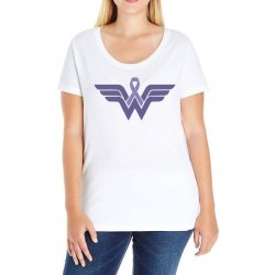 esophageal cancer wonder woman Ladies Curvy T-Shirt | Artistshot