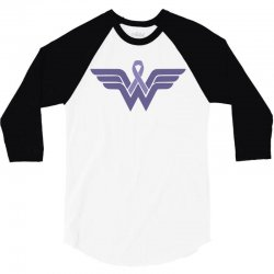 esophageal cancer wonder woman 3/4 Sleeve Shirt | Artistshot