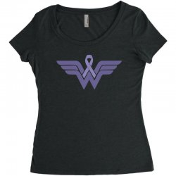 esophageal cancer wonder woman Women's Triblend Scoop T-shirt | Artistshot