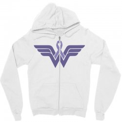 esophageal cancer wonder woman Zipper Hoodie | Artistshot