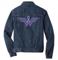 esophageal cancer wonder woman Men Denim Jacket | Artistshot