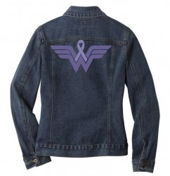 esophageal cancer wonder woman Ladies Denim Jacket | Artistshot