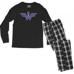 esophageal cancer wonder woman Men's Long Sleeve Pajama Set | Artistshot
