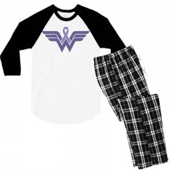 esophageal cancer wonder woman Men's 3/4 Sleeve Pajama Set | Artistshot