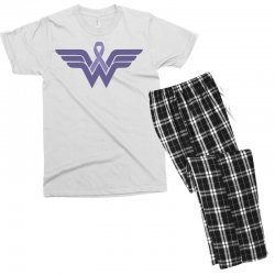 esophageal cancer wonder woman Men's T-shirt Pajama Set | Artistshot