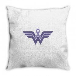 esophageal cancer wonder woman Throw Pillow | Artistshot