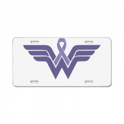 esophageal cancer wonder woman License Plate | Artistshot