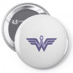 esophageal cancer wonder woman Pin-back button | Artistshot