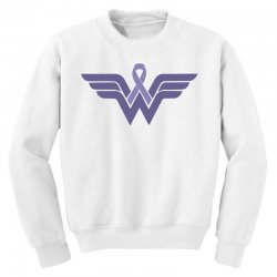 esophageal cancer wonder woman Youth Sweatshirt | Artistshot