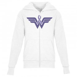 esophageal cancer wonder woman Youth Zipper Hoodie | Artistshot