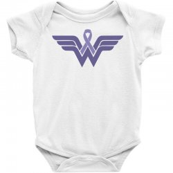 esophageal cancer wonder woman Baby Bodysuit | Artistshot