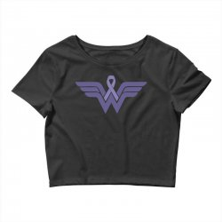 esophageal cancer wonder woman Crop Top | Artistshot