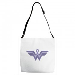 esophageal cancer wonder woman Adjustable Strap Totes | Artistshot