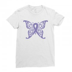 esophageal cancer butterfly Ladies Fitted T-Shirt | Artistshot