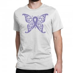esophageal cancer butterfly Classic T-shirt | Artistshot