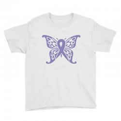 esophageal cancer butterfly Youth Tee | Artistshot