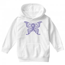 esophageal cancer butterfly Youth Hoodie | Artistshot
