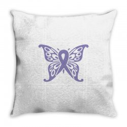 esophageal cancer butterfly Throw Pillow | Artistshot