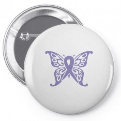 esophageal cancer butterfly Pin-back button | Artistshot