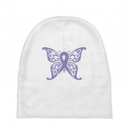 esophageal cancer butterfly Baby Beanies | Artistshot