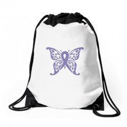esophageal cancer butterfly Drawstring Bags | Artistshot