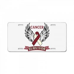 cancer survivor head and neck cancer for light License Plate | Artistshot