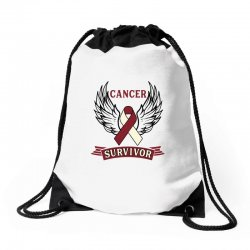 cancer survivor head and neck cancer for light Drawstring Bags | Artistshot