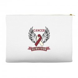 cancer survivor head and neck cancer for light Accessory Pouches | Artistshot